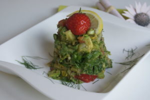 Kunterbunter Salat mit Avocado - Dressing